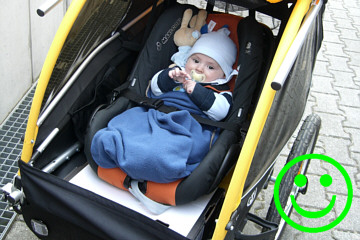 Baby Im Fahrradanhänger